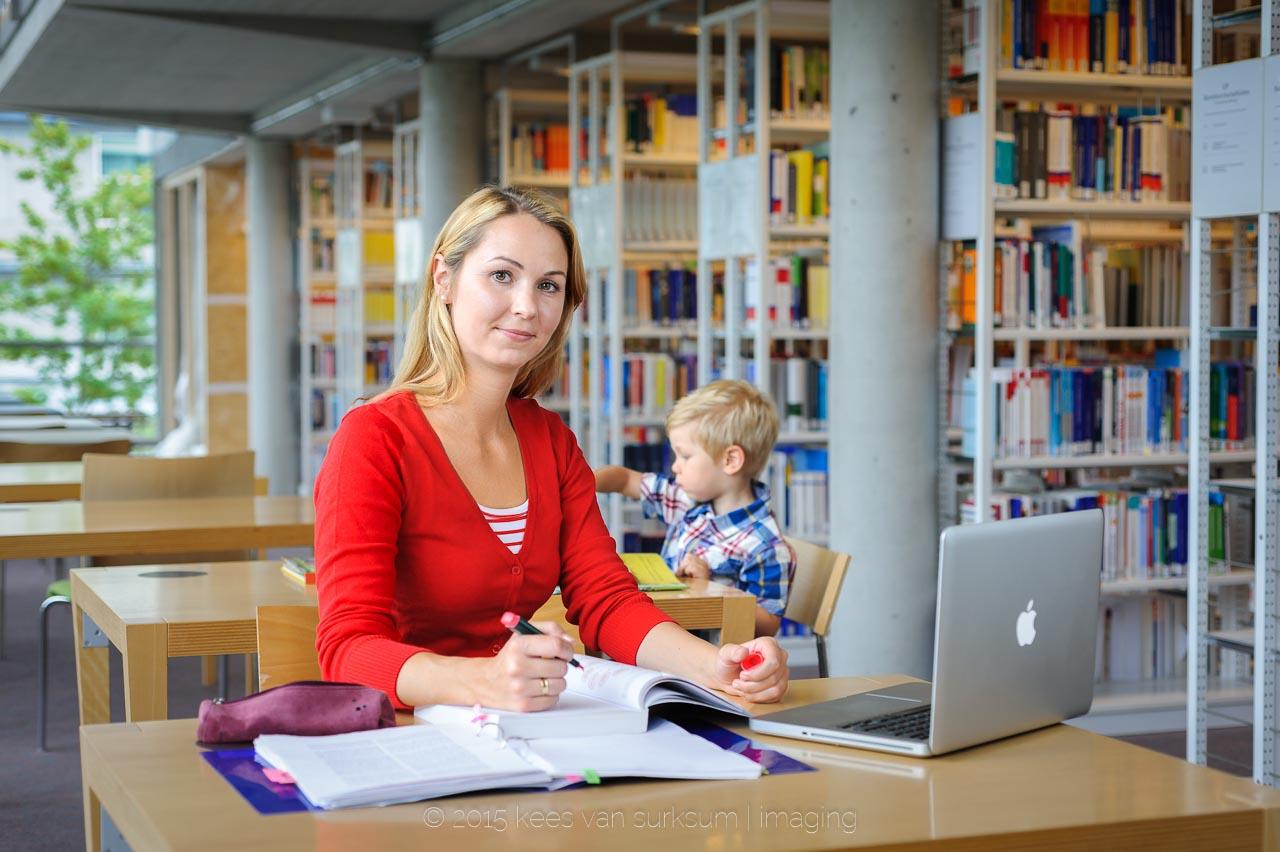 Werbefotografie Allgäu Werbekampagne Familie und Studium Fachhochschule Kempten Fotograf Kees van Surksum
