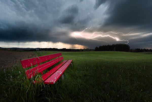 Gewitter bei Altusried, Fotograf: Kees van Surksum
