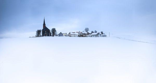 Landschaftsfotografie Allgäu Bildbearbeitung Photoshop Winter Landschaft Kimratshofen Altusried bei Kempten Kees van Surksum Fotografie