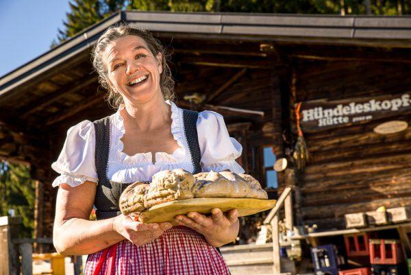 Silvia Beyer, Wirtin der Hündleskophütte, Fotograf: Kees van Surksum