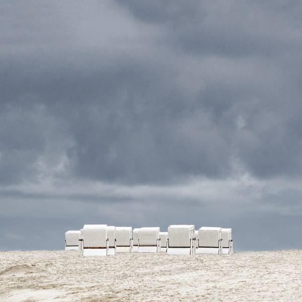 Fine Art Landschaftsfotografie Landschaften Deutschland Niedersachsen Norsee Wattenmeer Insel Wangerooge Strandkörbe am Strand Fotograf Kees van Surksum Altusried, Kaufbeuren, München, bayerisch Schwaben und Allgäu