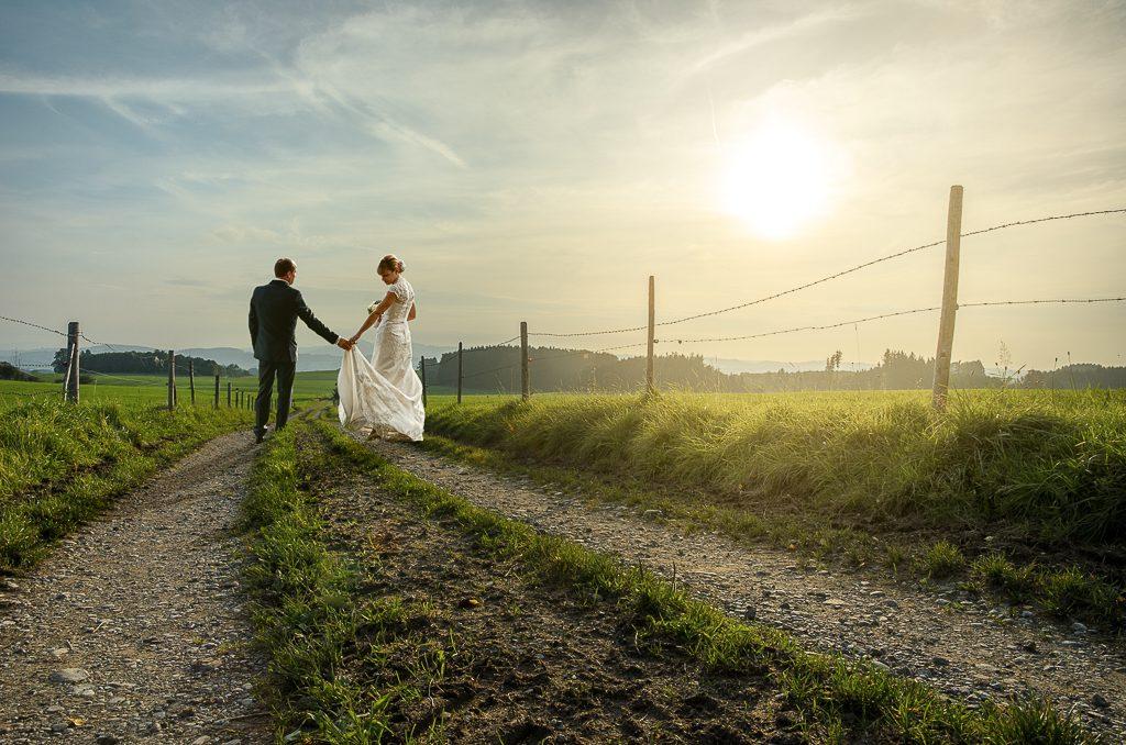 Hochzeitsfotografie Brautpaar After Wedding Hochzeitsfotograf Kees van Surksum Altusried im Allgäu