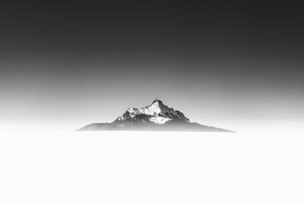 Landschaftsfotografie Allgäu Grünten Oberallgäu Oy-Mittelberg Schneelandschaft schwarz-weiß Fine Art Fotografie Photography