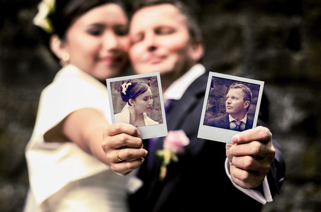 Hochzeitsfotografie Brautpaar Hochzeit in Kempten Bildmontage Hochzeitsfotograf Kees van Surksum Fotograf im Allgäu