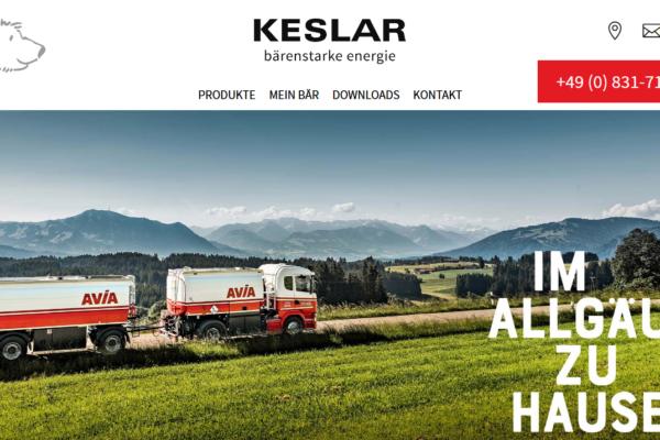Screenshot Website KESLAR Werbefotografie Indutriefotografie Businessfotografie Kempten im Allgäu Ulm Kaufbeuren Fotograf Kees van Surksum